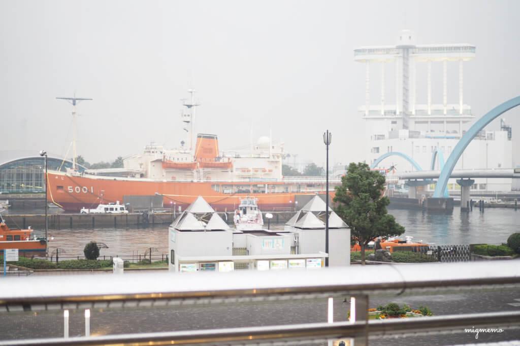 水族館から見える船は撮ったのですけどね。